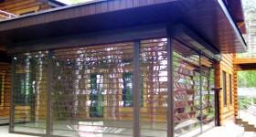 Светопрозрачные рольставни из поликарбоната - монтаж в Ульяновске на базе отдыха