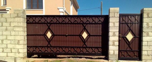 Откатные (сдвижные) ворота ЭЛИТ в Тольятти
